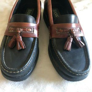 Bass MARINE Tassel Loafers 8.5M Brown Black shoes